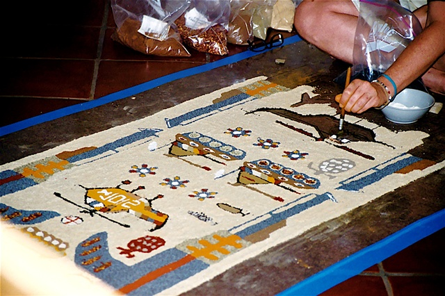Making the War Rug