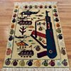 Afghan War Rug No.35, Paratroop Version AK-37(SOLD)