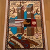 "Day 6, Final.  ""Twin Towers- Tribute Rug Carpet-9/11 2001- USA History"" (GRAM War Rug)"