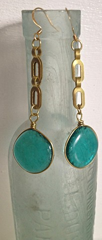 "Aqua ""Fandangle"" earrings..."