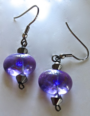 Lavender Serenity Oblate earrings...