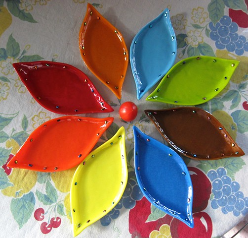 "More Leaf Plates! Details: Measures about 6"" long by 3"" wide. $12.00"