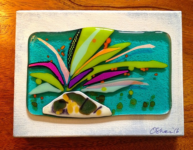 """Seagrass on Canvas"" wall piece"