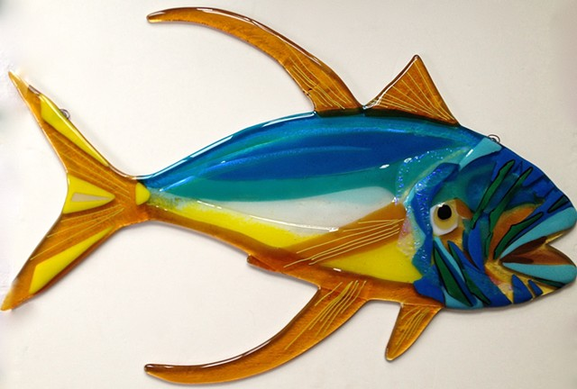 "Large Yellowfin Tuna...  details: about 25"" long x 13.5"" tall"