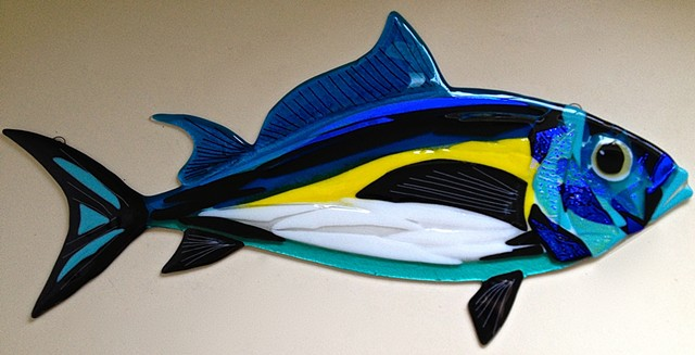 "Blackfin Tuna...  details: about 27.5"" long x 11"" tall"