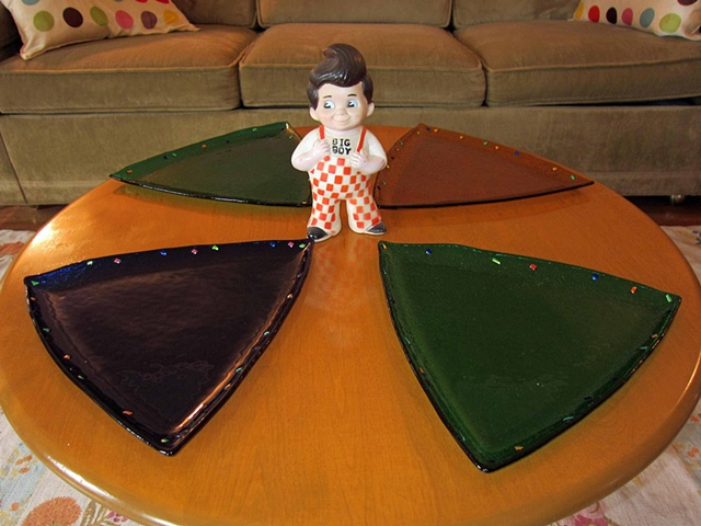 "Large Triangle Plates  Details: 13"" Sides"