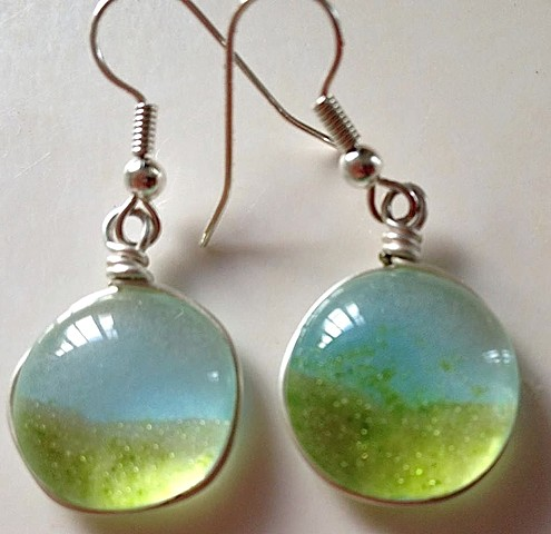 """Heaven and Earth"" earrings..."
