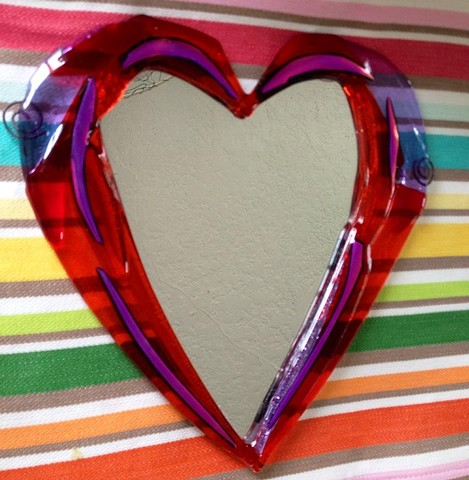 Here's a classic Mary O'Shea Heart Mirror...scaled down...