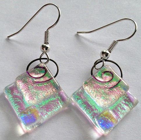 All Dichroic Diamond Delight earrings