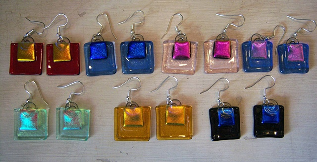 """Key West Shopping Bag"" earrings"