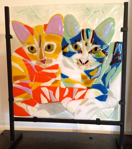 "Double kitty, 12"" Pet Portrait..."