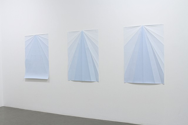 Installation view Blue Paperplane