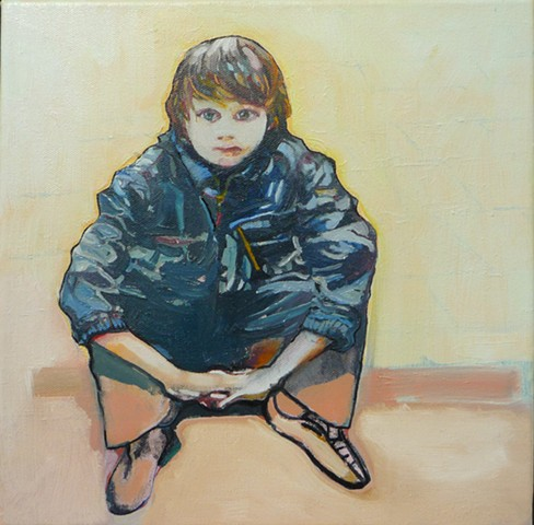 Julie Goulding oil paintings  Boy