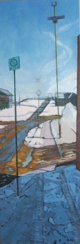 Julie Goulding artist oil paintings signs snow
