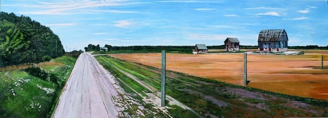 Julie Goulding  Three Barns On Concession Road oil paintings