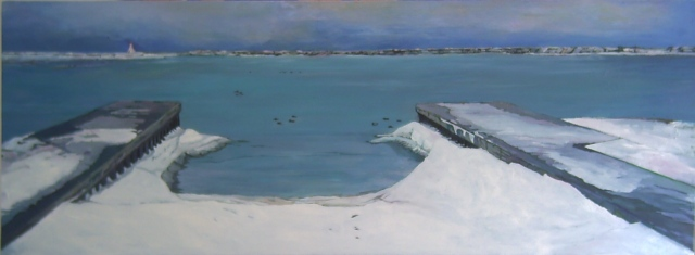 Julie Goulding Cobourg Harbour seascape artist oil paintings