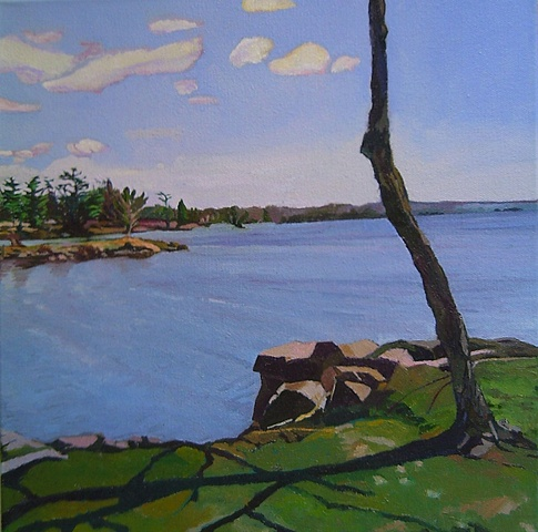 Julie Goulding artist oil paintings Spring View