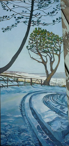 Julie Goulding oil paintings snow tracks