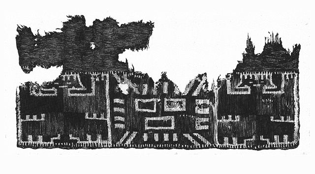 Ancient Peruvian textile fragment