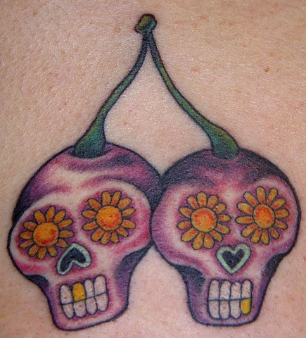 sugar skull cherries