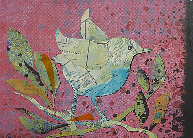 Mauritania map bird