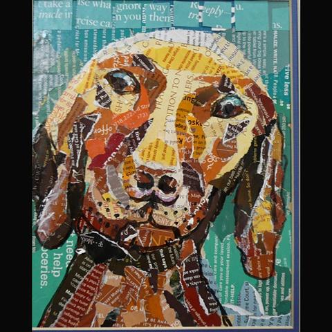 Dog's Eye View collage series
