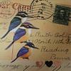 mixed media 3 birds 3 hearts