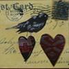 mixed media Brewer's blackbird