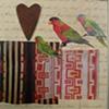 mixed media 3 birds 1 heart