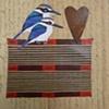 mixed media 2 birds 1 heart