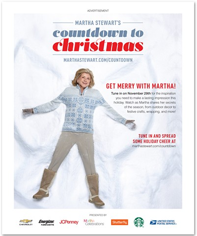 Martha Stewart's Countdown to Christmas Advertisement
