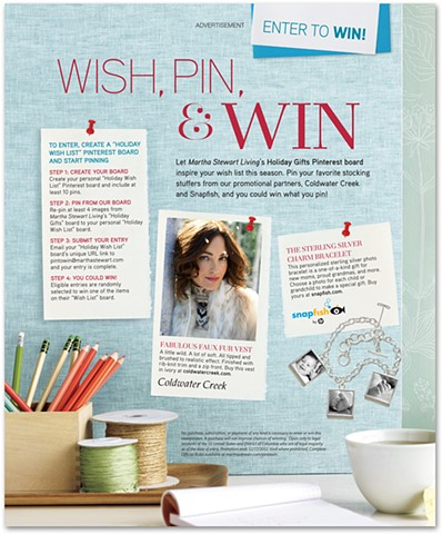 Pinterest Contest Advertorial