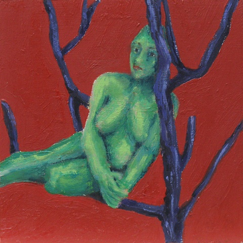 tree of life 9 small nude oil painting