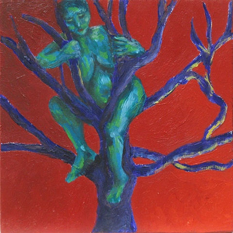 tree of life 10 small nude oil painting