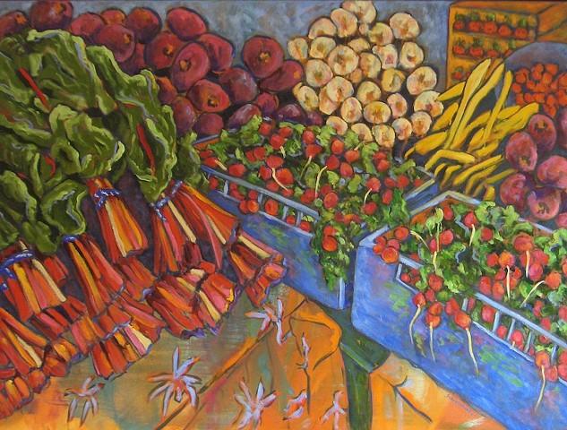 Farmers Market Kale & Radishes