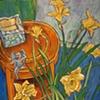 Daffodils with Gargoyle