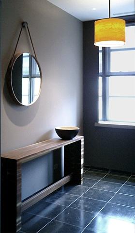 Washington Square Loft, modern, minimalist, entry vestibule, Pucci, BDDW by Doug Stiles Interior Design