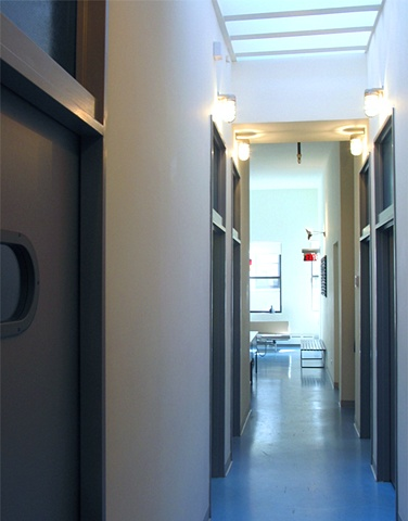 Flatiron Dental Office,  modern dental office, corridor skylite, skylight, by Doug Stiles Interior Design
