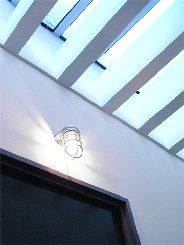 Flatiron Dental Office,  modern dental office, corridor skylite, skylight, by Doug Stiles Interior Design