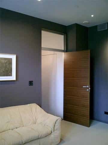 Washington Square Loft, modern minimalist  bedroom, modern sofa, by Doug Stiles Interior Design