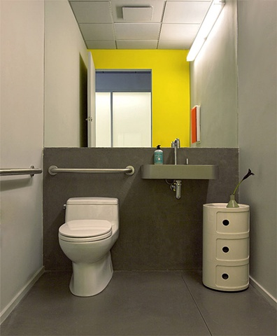 Tribeca Dental Office, modern dental office, modern bathroom by doug stiles interior design