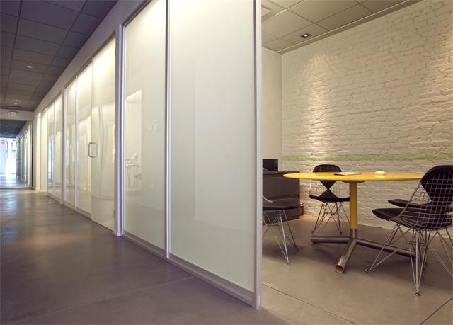 Tribeca Dental Office, modern dental office, conference area, Blu dot table by doug stiles interior design