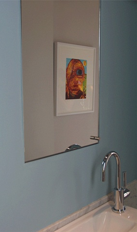 prewar penthouse apartment, modern minimalist bathroom, by Doug Stiles Interior Design