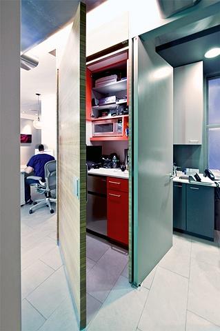 custom modern efficiency kitchen by Doug Stiles Interior Design