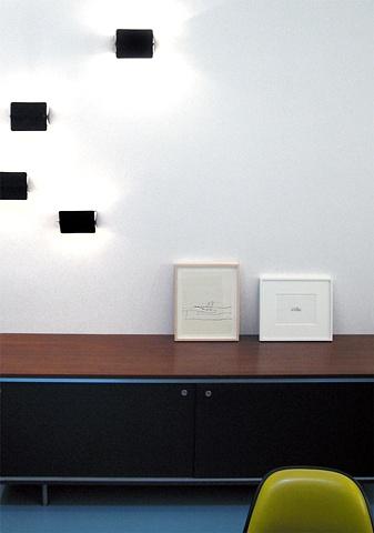 Flatiron Dental Office,  modern dental office, modern reception desk, charlotte perriand light fixtures, by Doug Stiles Interior Design