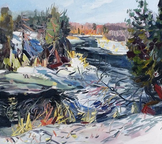 Spring melt, Burnt River