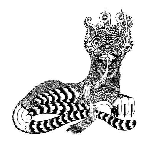 tiger, sphinx, cat, pattern