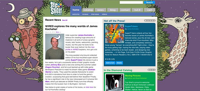 Top Shelf Publications - Website Banner