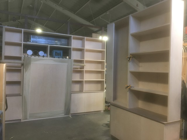 Library with murphy bed.
