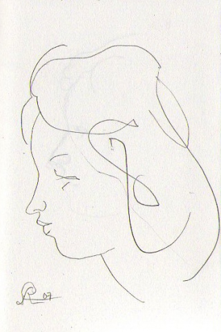 profile of a woman (2) -page from sketchbook